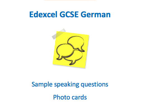Edexcel - German GCSE Speaking - Photocard Workbook