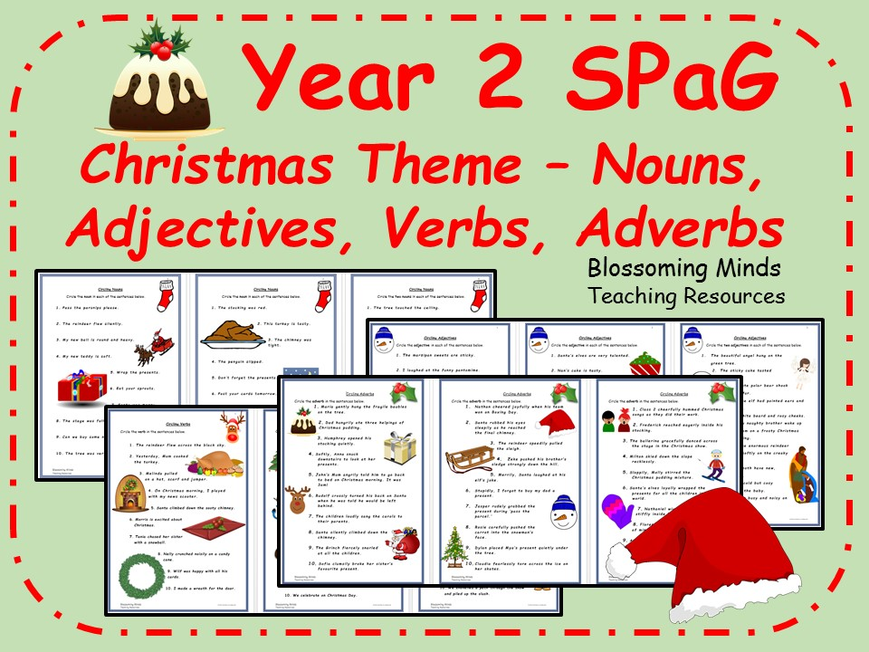 Year 2 SPaG - Christmas theme (Word Classes)