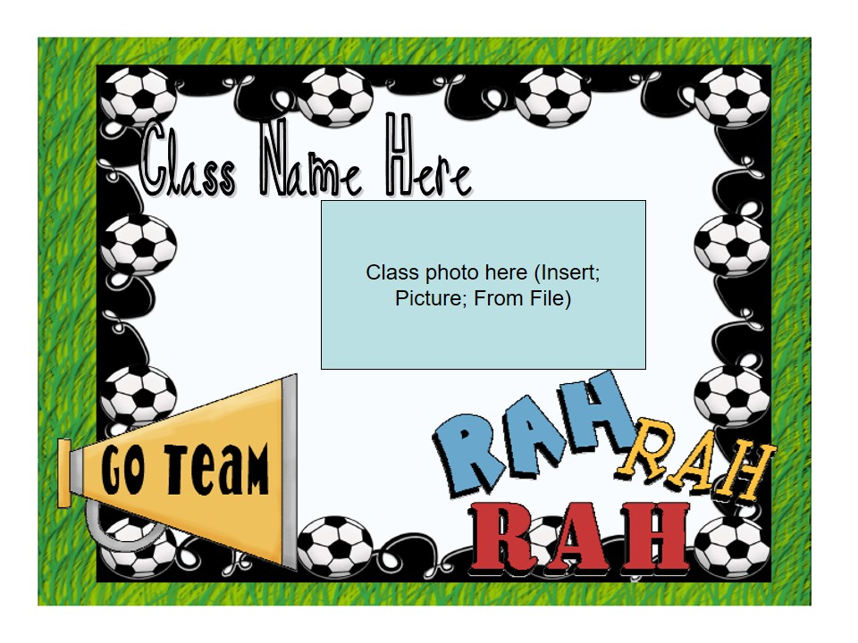 Back to School/Meet The Teacher/Open House Slideshow - Cheerleader Theme (suitable for UK and US)