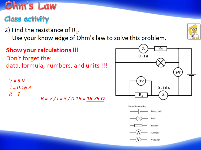 Electricity - Ohm's Law  (Physics)