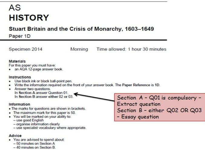 AQA KS5 History Unit 1D - Extract Question support and 'How to...' for Y12