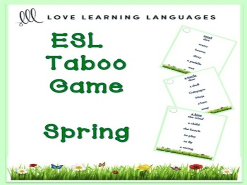 ESL - SPRING Vocabulary Taboo Game