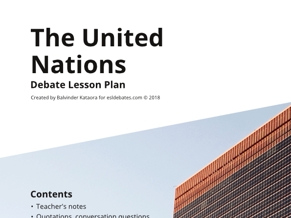 United Nations - Complete Debate Pack