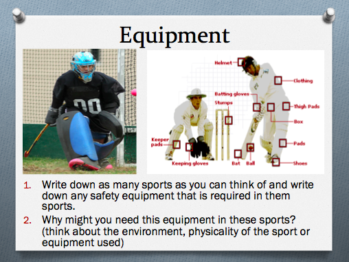 GCSE P.E (Theory) - Health and Safety Presentation