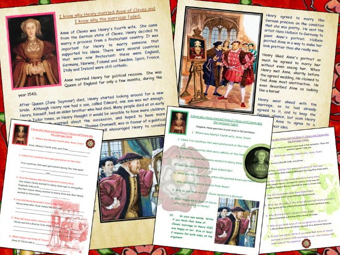 I know why the marriage between Anne of Cleves and Henry VIII failed comprehension Tudors