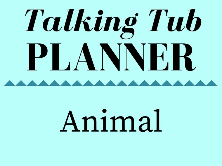 Animal Talking Tub Planner