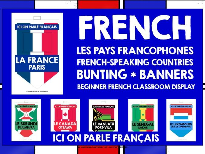 FRENCH-SPEAKING COUNTRIES BUNTING