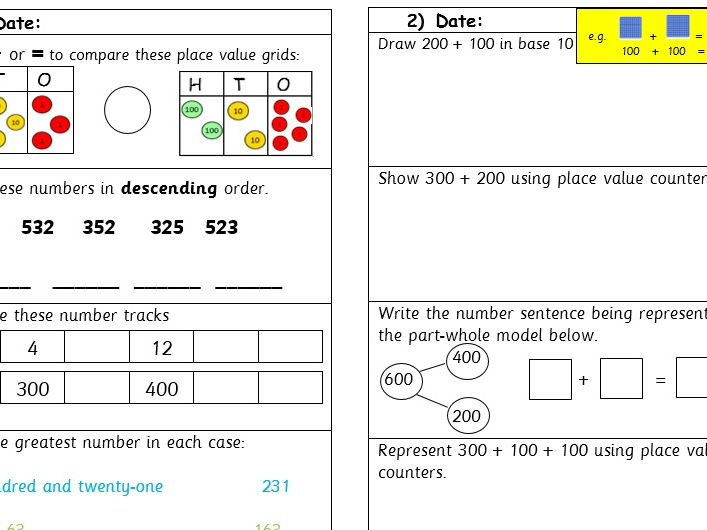 Year 3 Five Minute Warm Up Tasks - Addition and Subtraction