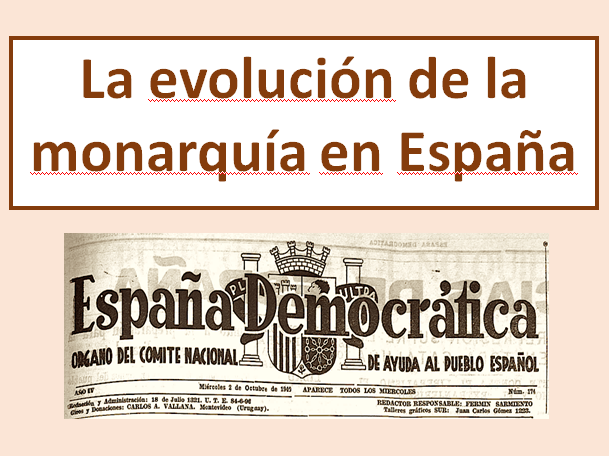 La evolucion de la monarquia en España - Explanation in detail (New A level) The Spanish monarchy