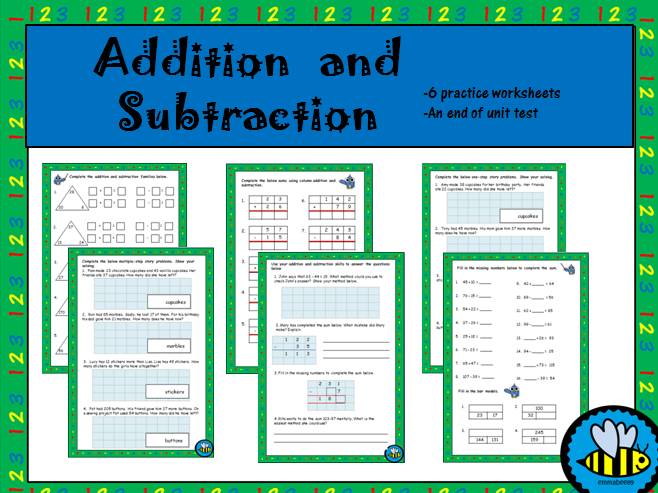 Year 3 Addition and Subtraction Worksheets and Assessment