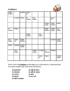 Maison (House in French) Sudoku