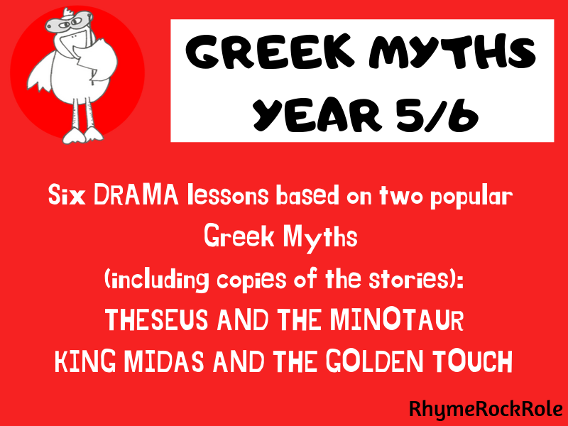 Greek Myths  - 6 drama lessons, Y5/6