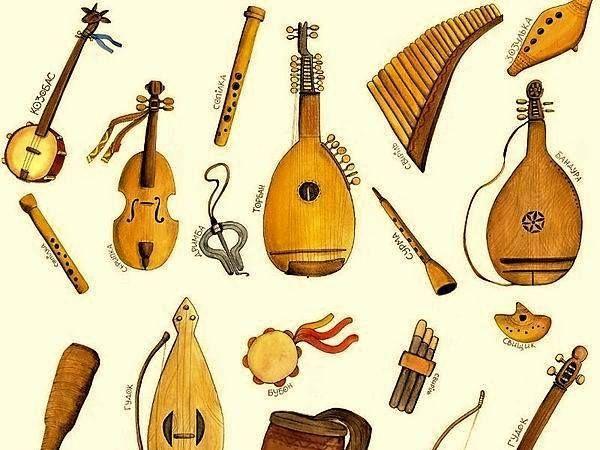 Folk musical instruments. Reading task