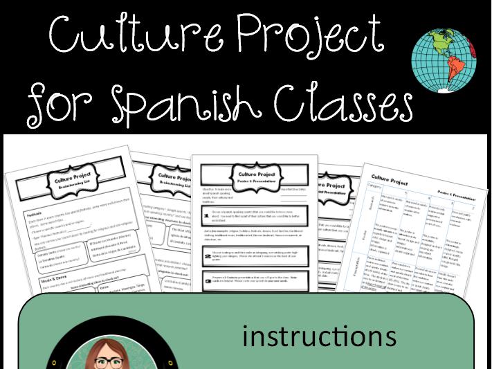 Spanish 1-2 Culture Project, Instructions & Rubrics