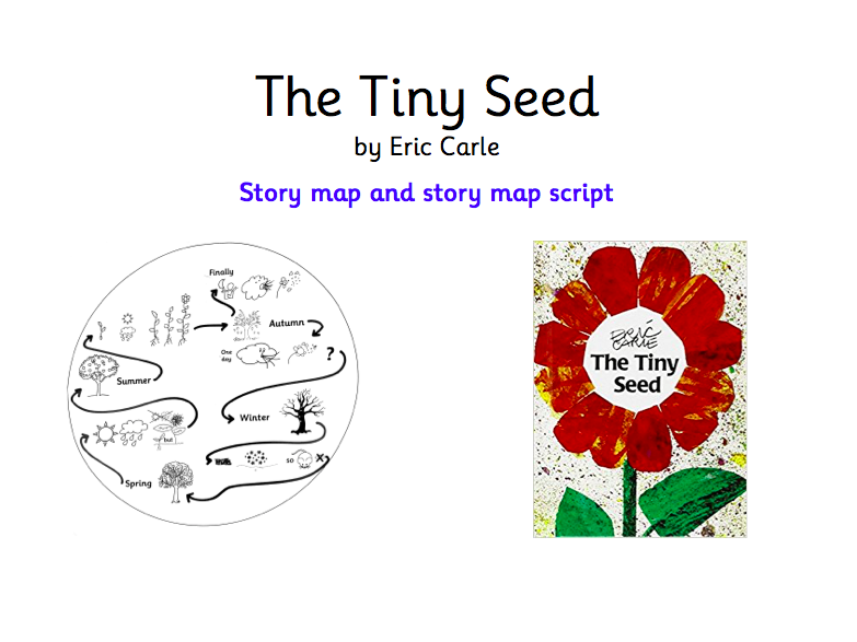 The Tiny Seed Story map and simplified story map retelling script – The Tiny Seed Worksheets