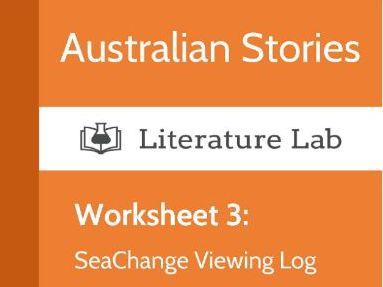 Australian Stories - SeaChange Viewing Log Worksheet