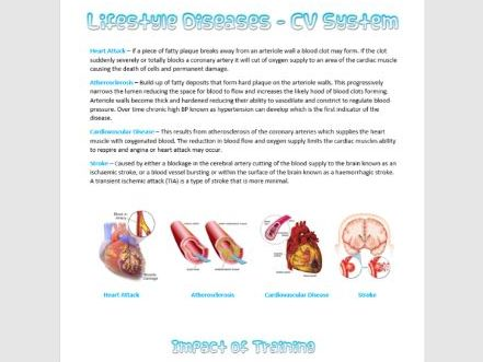 Lifestyle Diseases Information Sheet AS PE OCR