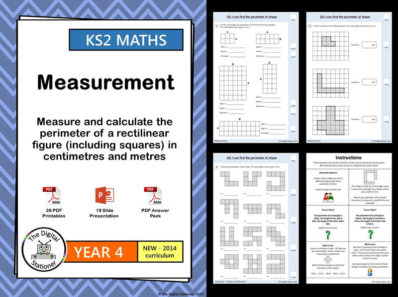 Year 4 - Measure and calculate perimeter of rectilinear figure - White Rose -week 1-4 (INC. MASTERY)