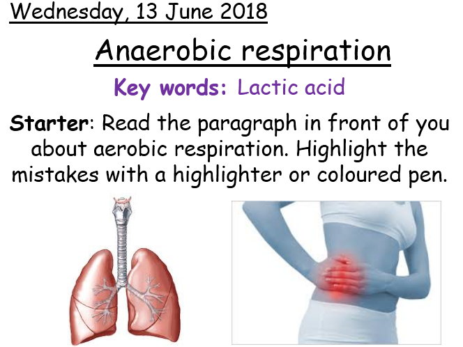 Anaerobic respiration - Year 8 Activate science