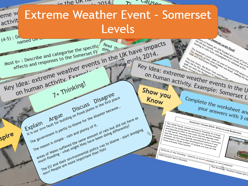 AQA: GCSE 9-1 : Extreme Weather Event The Somerset Levels.