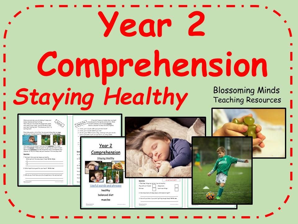 Year 2 Reading Comprehension - Staying Healthy