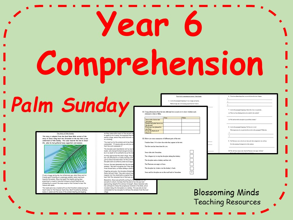 Year 6 SATs comprehension - Palm Sunday