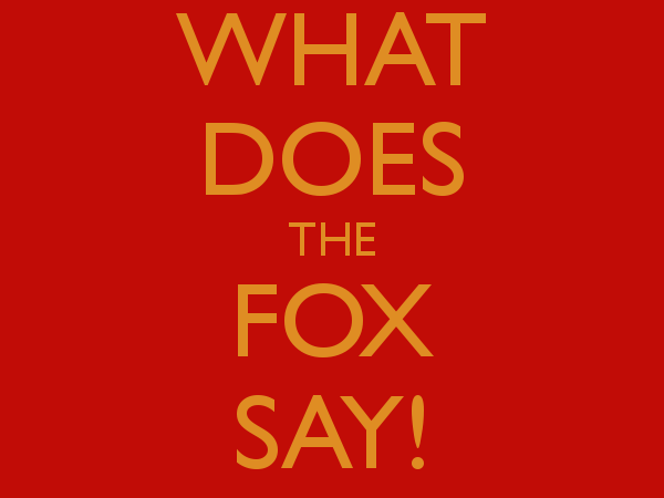 What does the fox say? Great end of term treat!