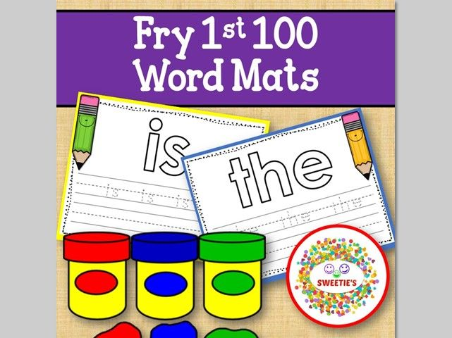 Sight Word Mats: Fry 1st 100 Word Mats – Color
