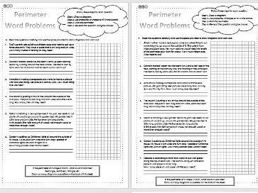 Perimeter - Word Problems - Maths - KS2 - Differentiated