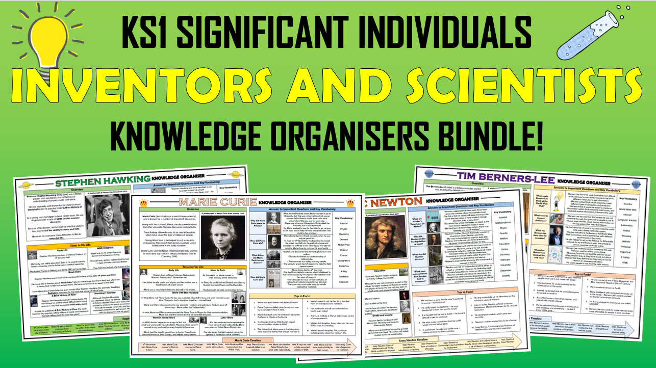 KS1 Significant Individuals - Inventors and Scientists - Knowledge Organisers Bundle!