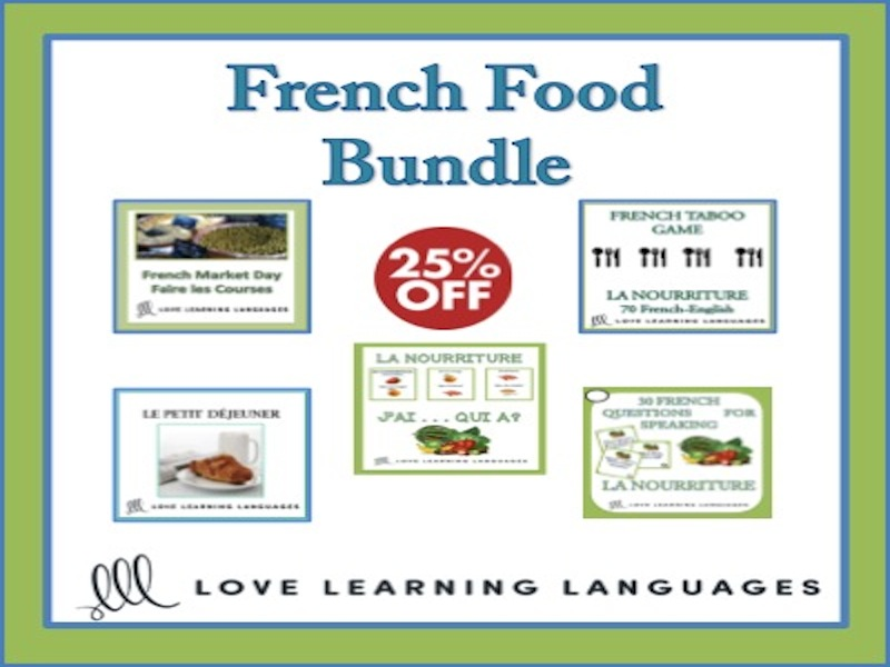 GCSE FRENCH: French Food Bundle - La Nourriture