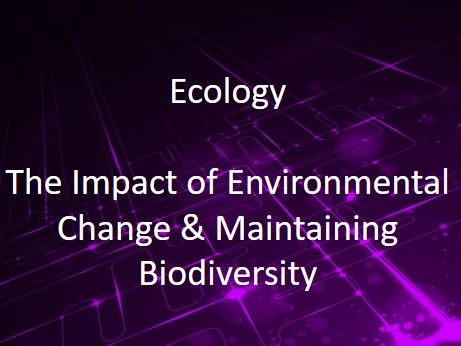 New AQA (9-1) GCSE Biology Ecology: Environmental Change and Biodiversity (4.7.3.6 and 4.7.2.4)