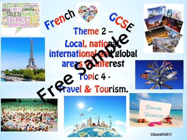 French GCSE 9 - 1 Specifications - Theme 2 –  Topic 4 – Travel & Tourism.