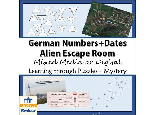 German Numbers and Dates Escape Room - Zahlen und Datum