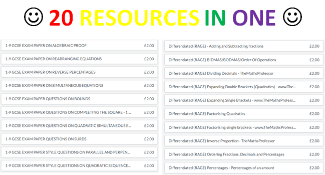 20 of my premium resources!