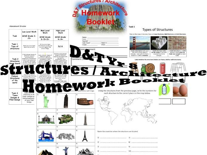 DT - Yr 8 Structures - Architecture - Homework Booklet – PDF Version