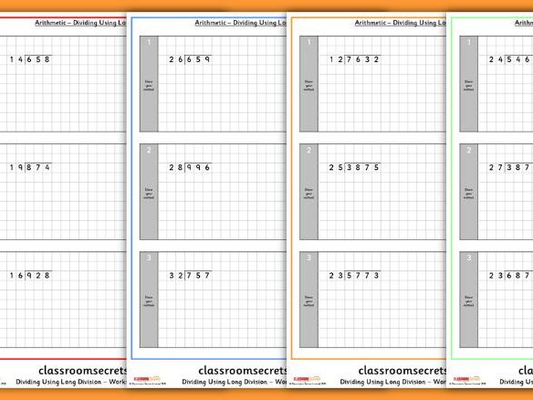 ks2 dividing using long division arithmetic sats questions by classroomsecrets teaching resources. Black Bedroom Furniture Sets. Home Design Ideas