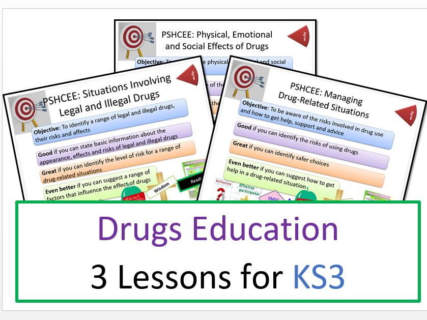 PSHE: Drugs Education: KS3 Lesson Bundle