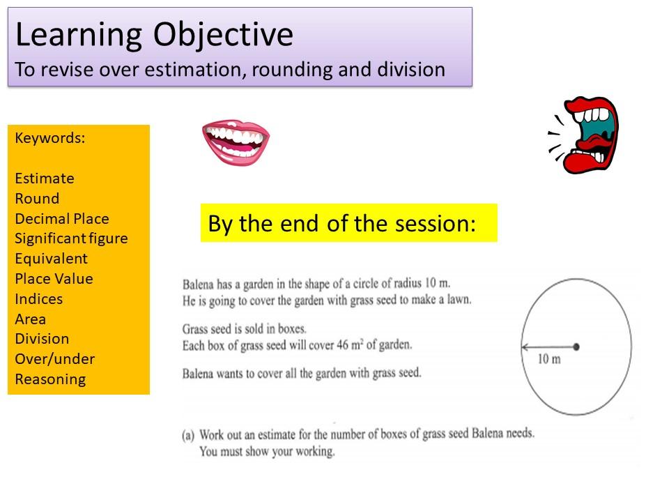 GCSE 1-9 Foundation Estimation Revision