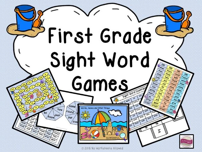 First Grade Sight Word Games and Activities