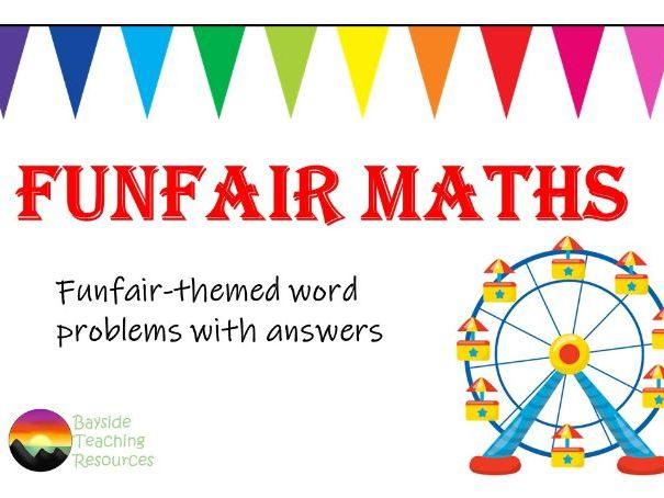 Maths word problems - funfair theme