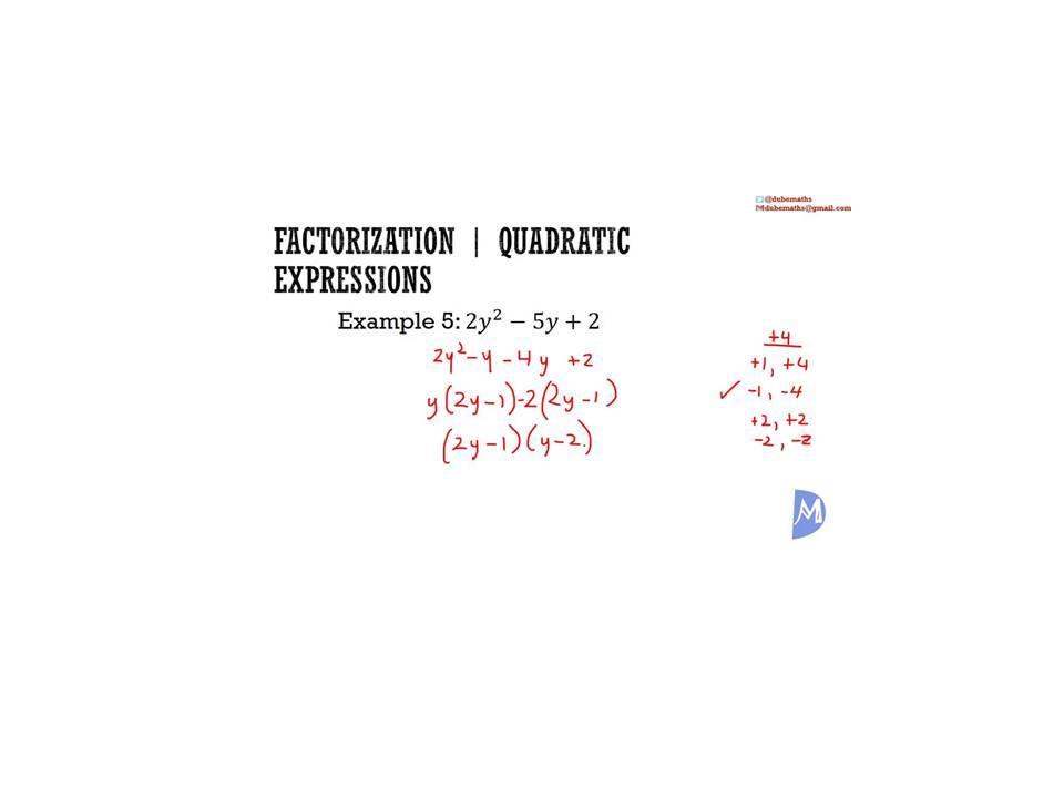 Factorize Worksheet -01