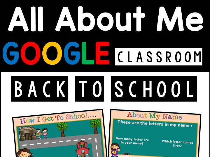 Back To School All About Me Google Slides | Google Classroom | Distance Learning | Remote Learning