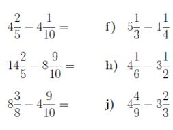 8 Worksheets on mixed numbers (with solutions). Good for GCSE/IGCSE
