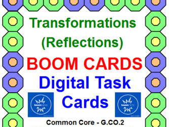 "TRANSFORMATIONS - REFLECTIONS: ""DIGITAL"" BOOM CARDS (45 TASK CARDS)"