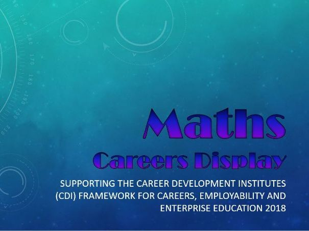 Maths Career Display