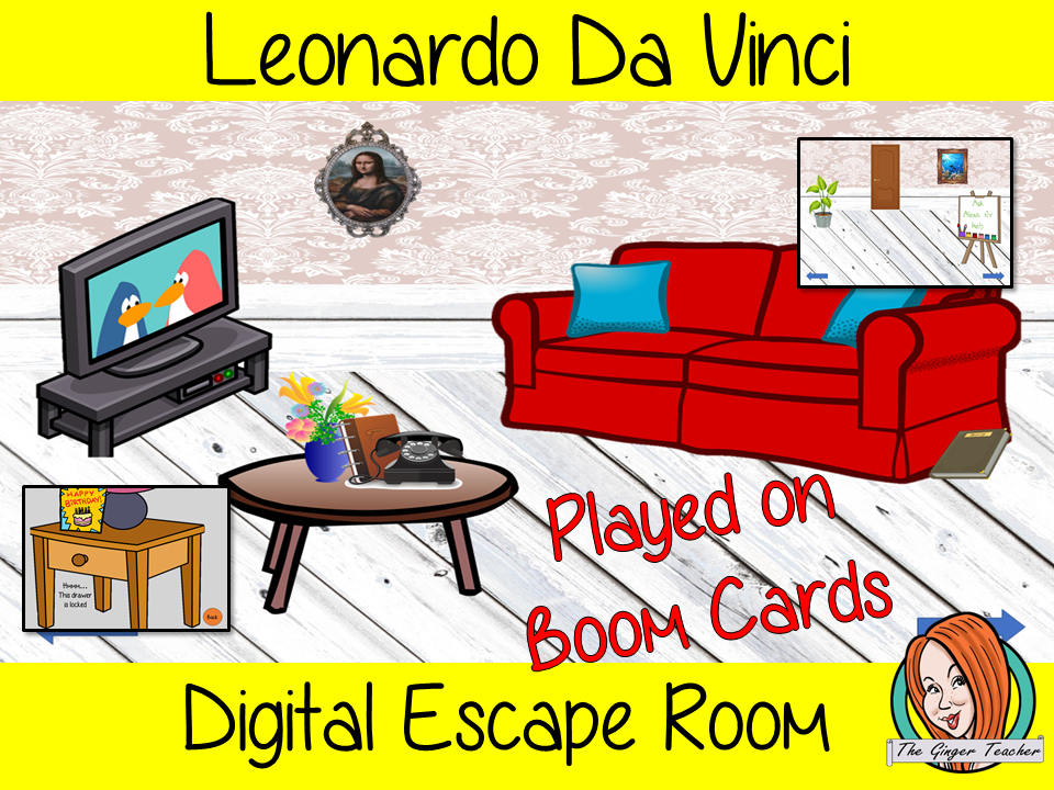 Leonardo Da Vinci Digital Escape Room Boom Cards