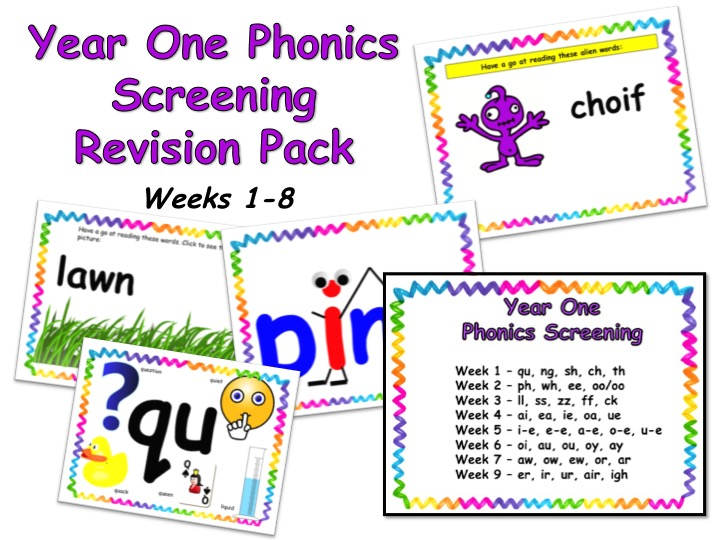 Phonics Screening Revision Pack Weeks 1-8