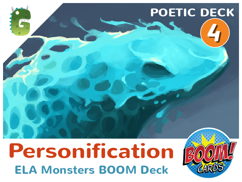 Personification BOOM cards (Poetic Language - Deck 4)