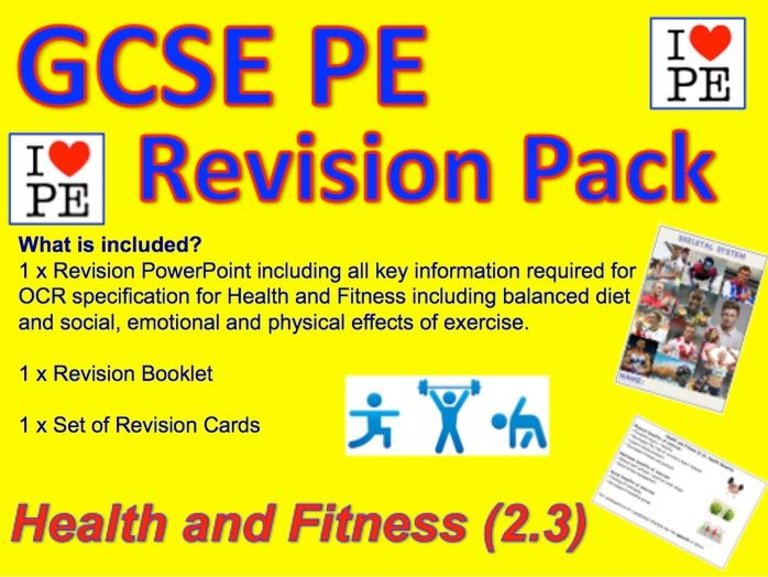 GCSE PE Health, Fitness and Diet Revision Pack